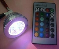 E27 3w RGB led spotlight