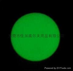 Golf ball noctilucent