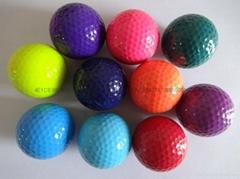 The golf balls