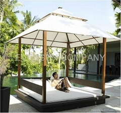 Daybed,Rattan Garden Furniture, wicker furniture