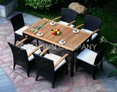 dining set, rattan furniture