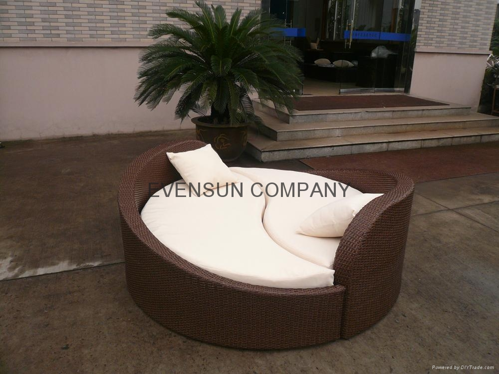 Rattan Daybed Suppliers : Rattan furniture daybed esr china