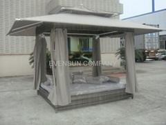 rattan Gazebo, daybed, wicker furniture