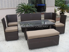 dining set, rattan furniture, wicker dining set