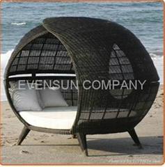 daybed, sunbed, round bed