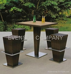 bar set, outdoor furniture, rattan furniture