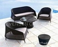 sofa set, outdoor furniture, wicker