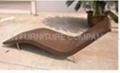 Outdoor rattan Lounge sunbed