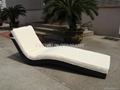 Outdoor rattan Lounge sunbed