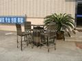 bar set, outdoor furniture, rattan