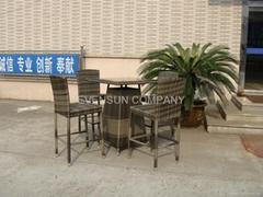 bar set, outdoor furniture, rattan furniture
