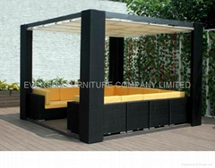 rattan Gazebo, daybed, wicker furniture