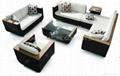 rattan sofa set, outdoor furniture