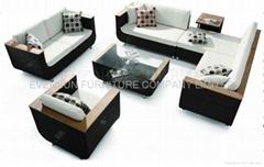 rattan sofa set, outdoor