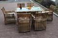 Rattan balcony set