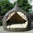 Unique design temple rattan daybed