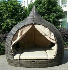 Unique design temple rattan daybed