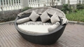 modern outdoor wicker daybed with canopy