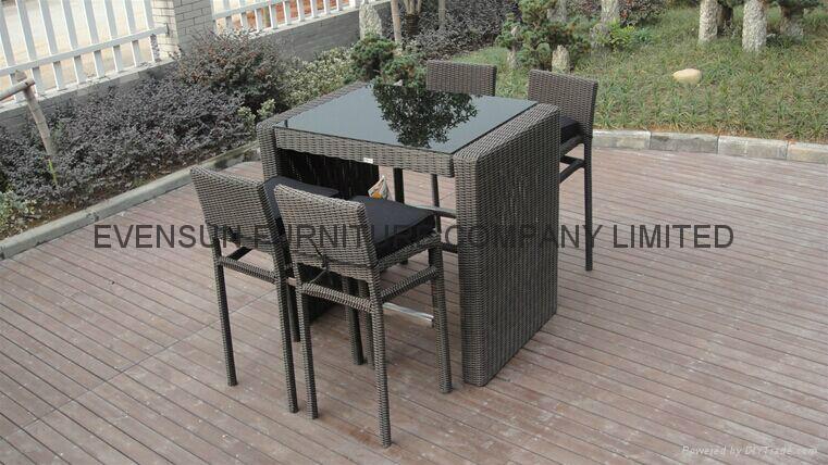 2015 new designer wicker rattan bar furniture