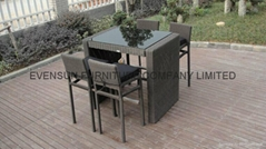 2015 new designer wicker rattan bar furniture