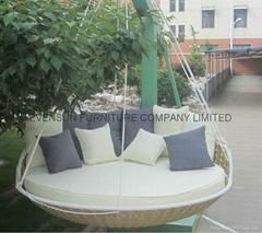 outdoor furiture garden wicker hanging bed