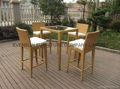 wicker rattan bar furniture for sale