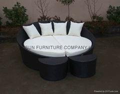 outdoor wicker/rattan sunbed