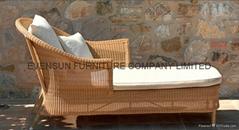 Outdoor Furniture rattan sun lounger