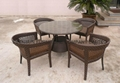 rattan dining table set 3