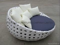 modern sofa round bed