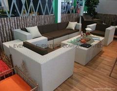 7pcs rattan living room sofa furniture