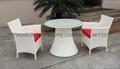 White Luxury Rattan Dining Set