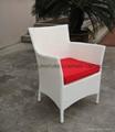 White Luxury Rattan Dining Set 2