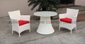 White Luxury Rattan Dining Set 4
