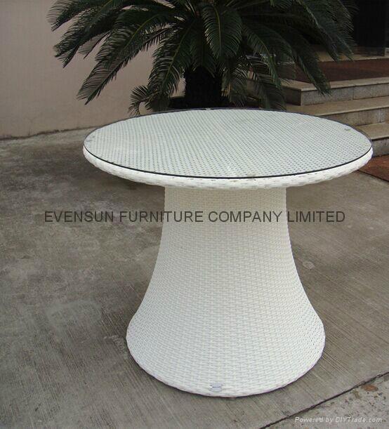 White Luxury Rattan Dining Set 3
