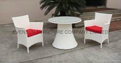 Balcony rattan table and chair
