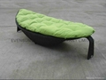 Leaf shape sun lounger