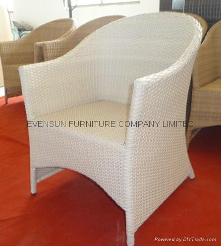 White Color Rattan Chair 1