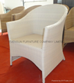 White Color Rattan Chair
