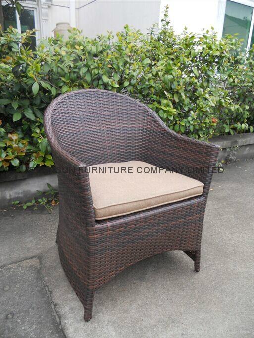 White Color Rattan Chair 3
