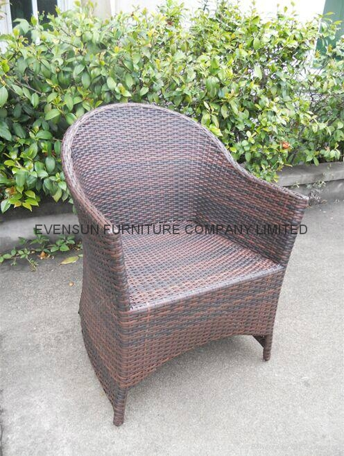 White Color Rattan Chair 5
