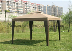 Outdoor rattan gazebo tent