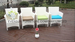 Strong Rattan Outdoor Chairs For Out Door Restaurant