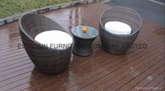 Modern rattan hotel furniture