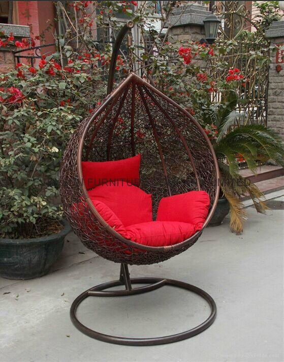 garden rattan hanging egg chair esr 21025 evensun china manufacturer outdoor furniture. Black Bedroom Furniture Sets. Home Design Ideas