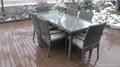 Hot sale rattan wicker kitchen dining room furniture 2