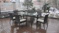 Hot sale rattan wicker kitchen dining room furniture 6