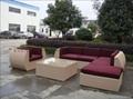 Rattan garden furniture italian design