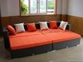 rattan/wicker sofa bed