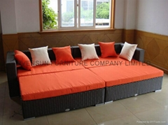 rattan/wicker sofa bed